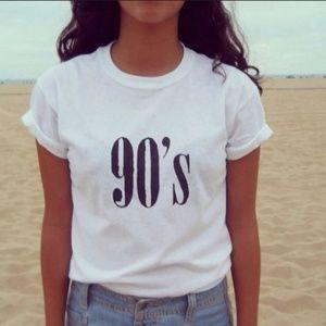 Tops - Women's T-Shirt 90's Letter Print